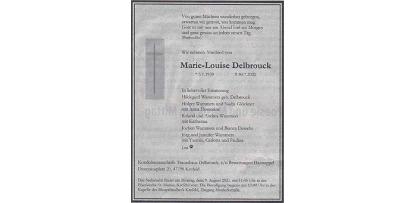 Langjährige Schulleiterin Frau Marie-Louise Delbrouck verstorben